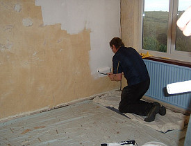 remove wall paper before painting